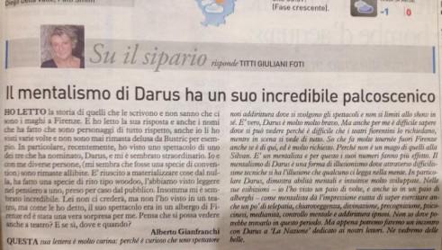 21 gennaio Darus a Firenze